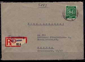 Wassenberg Bezirk Aachen Brf.-Vorderseite Prov. E-Zettel (d014