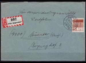 Augustdorf R-Brief nach Münster Bauwerke Mi.501 EF 1970 (d021