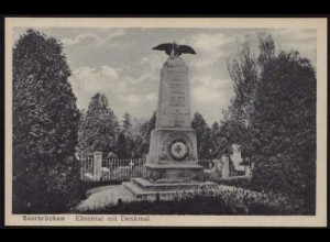 AK Saarbrücken Ehrental mit Denkmal selten (8500