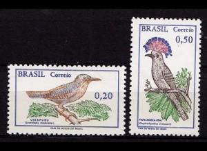 Brasilien Mi 1178-79 Vögel Birds Wildlife 1968 ** (b589