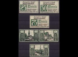 Niedersachsen - Holzminden 3 Stück Notgeld Serie Emergency Money (c953