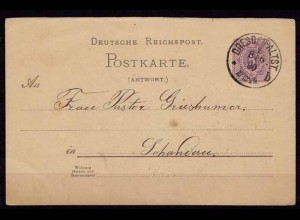 Dresden-Altstadt Karte Ganzsache n Schandau 1890 (b194