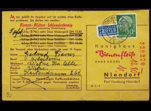 Wietze Überstempel Celle 1956 Landpost (d041