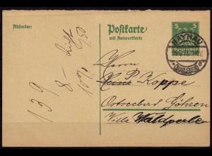 Haynau/Schlesien Chojnów Fragekarte Ganzsache 1925(d046