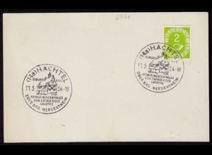 2 Pfennig Posthorn Bundesrepublik SST HACHTEL 1954(b155