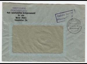 Münster Gebühr bezahlt 1945 Landwirtschaft Berufsg(b156