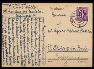 Menden Iserlohn AM Karte nach Olsberg 1946 (b191