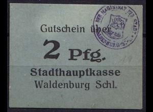 Schlesien - Waldenburg Wałbrzych Polen Poland 2 Pfennig Gutschein Notgeld (ca842