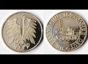 Medaille 150 Jahre Deutsche Eisenbahn (r355