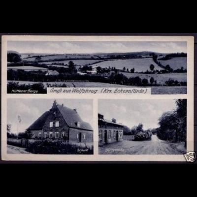 AK Wolfskrug Eckernförde Schule Dorfstrasse (6745