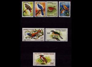 Madagascar Vögel Birds Wildlife 1963 Set ** (b372