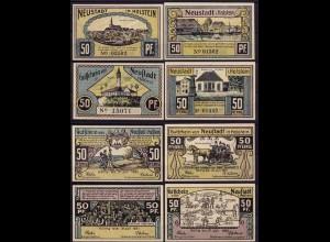 Schleswig Holstein - Neustadt 4 Stück Notgeld 1921 Löwe von Dänemark (ca205