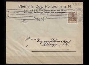 Heilbronn Maschinen-Stempel n Ebingen Reklame 1909(b203