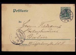 Zossen nach Berlin Karte 1904 (b717