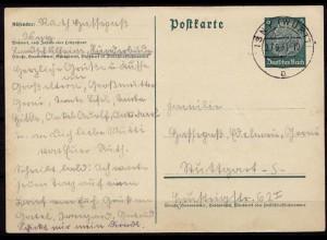 ISNY nach Stuttgart Ganzsache 1937 (b724