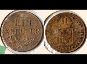 Österreich - Austria - 1 Kreuzer 1816 A Franz II. 1792-1835 selten (r719
