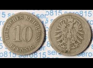 10 Pfg. Kaiserreich EMPIRE 1889 A - Jäger 4 (p726