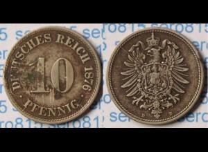 10 Pfg. Kaiserreich EMPIRE 1876 D - Jäger 4 (p725