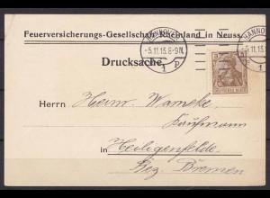 Hannover - Heiligenfelde Maschinen-Stempel 1913 Werbung (b713