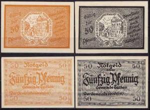 Schleswig Holstein - Trittau 2 x 50 Pfennig Notgeld o.D. (ca549