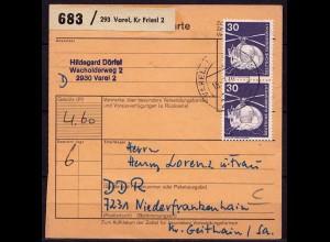 Varel Friesland n. Niederfrankenhain Paketkarte (b974