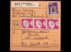 Bockhorn Jadebusen nach Fürth Paketkarte (b976