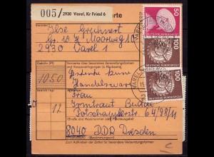 Varel Jadebusen nach Dresden Paketkarte (b977