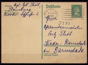 Flensburg Maschinenstempel 1927 nach N.-Ramstadt (b981