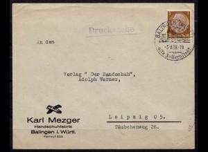 Balingen nach Leipzig Reklame 1938 (b332