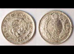 20 Sen Japan Mutsuhito aus 1867-1912 (r1233