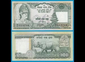 NEPAL 100 Rupees Banknote 1981 UNC Pick 34 gr. Nr (18655