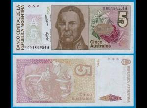 Argentinien - Argentina 5 Australes UNC 1986 Pick 324 REPACEMENT (18670