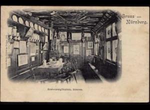 AK Nürnberg Gasthaus innen Bratwurstglöcklein (8521