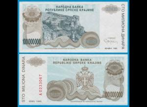 Kroatien - Croatia 100 Millionen Dinara Pick R25 UNC (18709