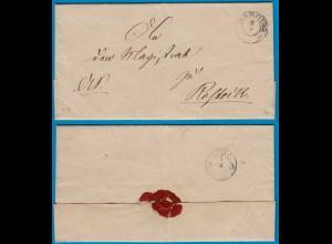 Mecklenburg Schwerin 1857 Umschlag von Dargun (18773