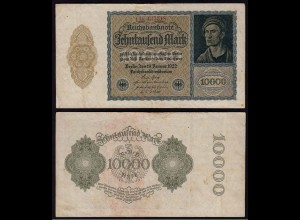 Reichsbanknote - 10.000 10000 Mark 1922 Ros. 69c Pick 72 F (4) (15422