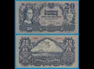 Österreich - Austria - 20 Schilling Banknote 1945 VF- Pick 116 (18792