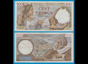 Frankreich - France - 100 Francs 1942 Pick 94 VF (18803