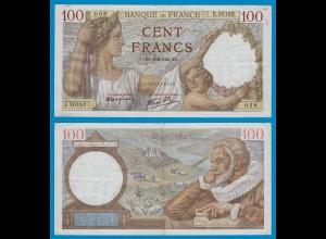 Frankreich - France - 100 Francs 1942 Pick 94 gutes VF (18802