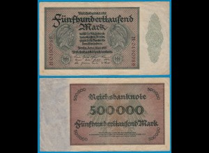 Reichsbanknote - 500.000 500000 Mark 1923 Ros. 87c Pick 88 VF (18808