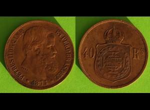 Brasilien - Brazil 40 Reis Münze 1875 (18826