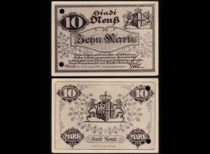Rheinland - Neuss 10 Mark 1918 Notgeld Stadt (15680
