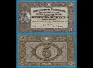 Schweiz - Switzerland 5 Franken Banknote 1952 Pick 11p - XF/aUNC (18851