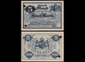 Rheinland - Neuss 5 Mark 1918 Notgeld Stadt (15681