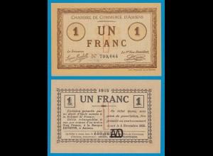 Frankreich - France 1 Franc Notgeld 1915 D´AMIENS UNC (18913