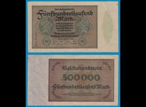 Reichsbanknote 500.000 500000 Mark 1923 Rosenberg 82f VF (18942
