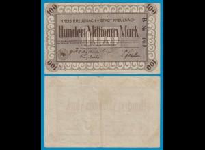 Kreuznach - Notgeld 100 Millionen Mark Serie B 1923 VF 4-stellig (18952