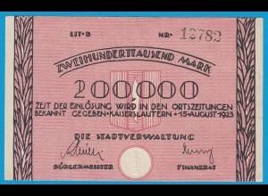 Kaiserslautern - Notgeld 200-tausend Mark 1923 VF/XF (18983