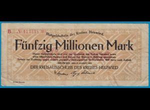 Neuwied - Notgeld 50-Million Mark 1923 gebraucht 6-stellig star (19000