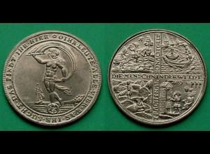 Die Menschen der Welt Medaille ca. 49,2 mm ca. 29,5 Gramm 1976 (19028